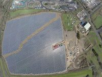 Ernesettle Solar Farm Ariel View