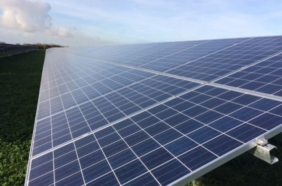 solar panels at wick farm - burnham and weston community energy