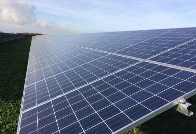 solar panels at wick farm - burnham and weston community energy