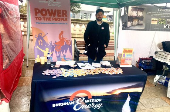 Burnham and Weston Energy CIC director Tom Cosgrove at EAT Weston food festival