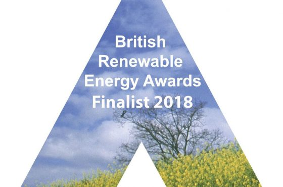British Renewable Energy Association Awards - Finalist 2018 logo