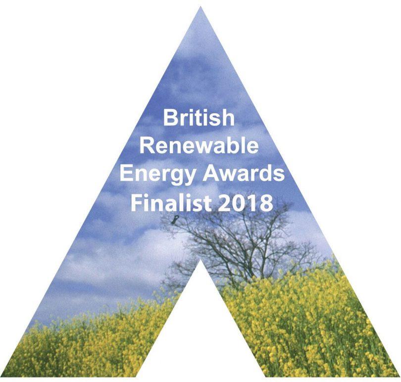 British Renewable Energy Association Awards - Finalist 2018 logo